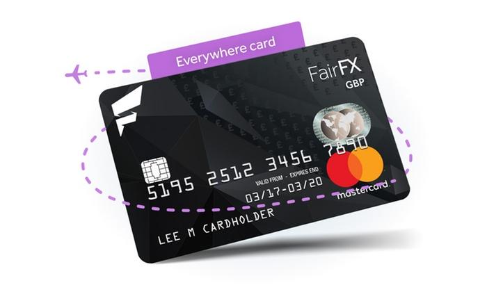 Prepaid Travel Money Mastercard - FairFX   Groupon