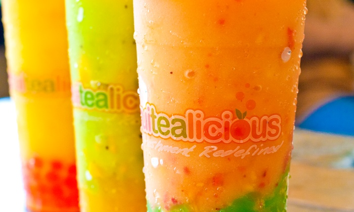 Fruitealicious - Multiple Locations: $6 for $10 Worth of Bubble Tea and Smoothies at Fruitealicious