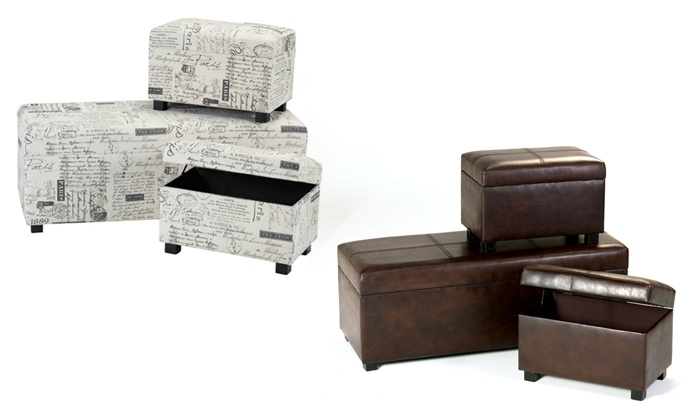 Cielo Lifestyle: Three-Piece Ottoman Set for R1 599.99 Including Delivery (54% Off)