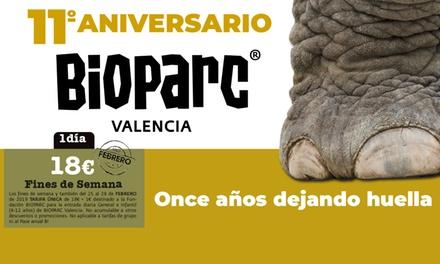 1 entrada a Bioparc para los fines de semana de febrero y del 25 al 28 de febrero por 18 € en Bioparc Valencia