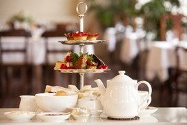 AM:PM Bohemian Restaurant: Afternoon Tea for Two or Four With Prosecco at AM:PM Bohemian Restaurant