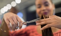 Cut and Finish with Conditioning Treatment and Optional Colouring Service at Steampunk Rooms (Up to 66% Off)