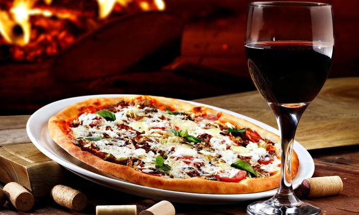 QuickFire Pizza - Stillwater: $28 for Personal Pizzas and Wine at QuickFire Pizza ($55.98 Value). Two Options Available.
