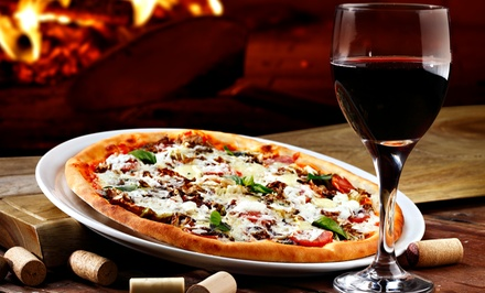 $28 for Personal Pizzas and Wine at QuickFire Pizza ($55.98 Value). Two Options Available.