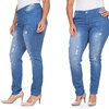 V.I.P Jean Women's Plus Size Butt-Lifting Distressed Jeans