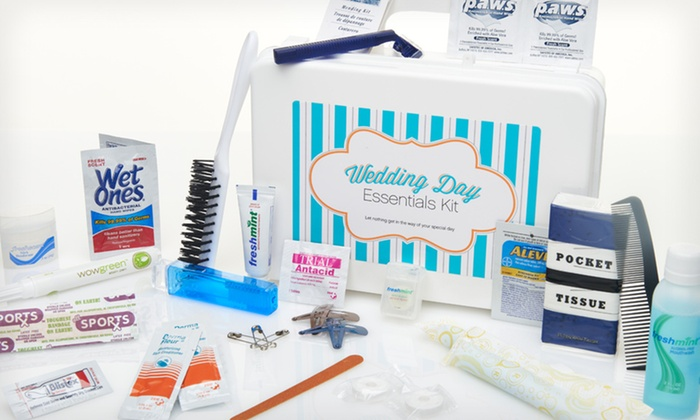 Wedding Day Essentials Kit: $19.99 for a 35+ Piece Wedding Day Essentials Kit ($36 List Price). Free Shipping.