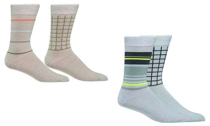 Ashworth Golf Men's Crew Socks (2 Pairs)