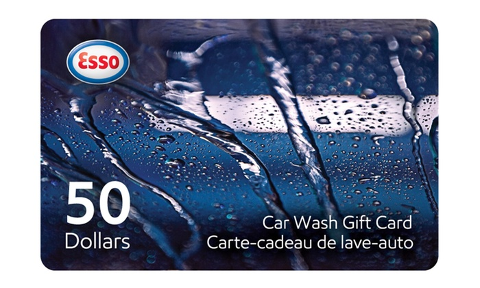 Esso - Multiple Locations: One or Two $50 Car Wash Gift Cards from Esso (Up to 28% Off)