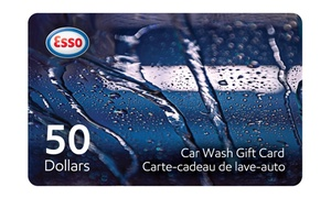 Esso: One or Two C$50 Car-Wash Gift Cards from Esso (Up to 28% Off)