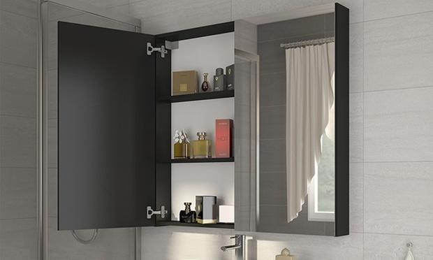 Afmeting Badkamer Spiegel : Badkamer spiegelkast met led groupon goods