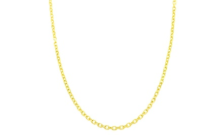 Unisex Diamond-Cut Cable Chain in Solid 14K Gold