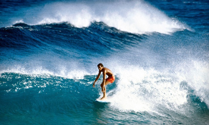 Pike's Surf School - Oak Park: Two-Hour Private Surfing Lesson for Two or Four from Pike's Surf School (Up to 73% Off)