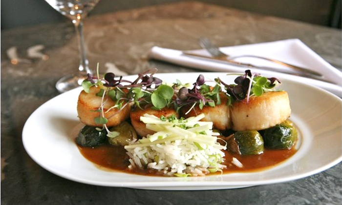 X20 Xaviars on the Hudson - X2O Xaviar's on the Hudson: Three-Course Dinner for Two or Four at X20 Xaviars on the Hudson (Up to 44% Off). Four Options Available.