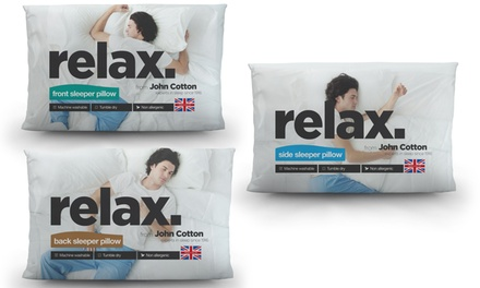 One, Two or Three John Cotton Relax Pillows