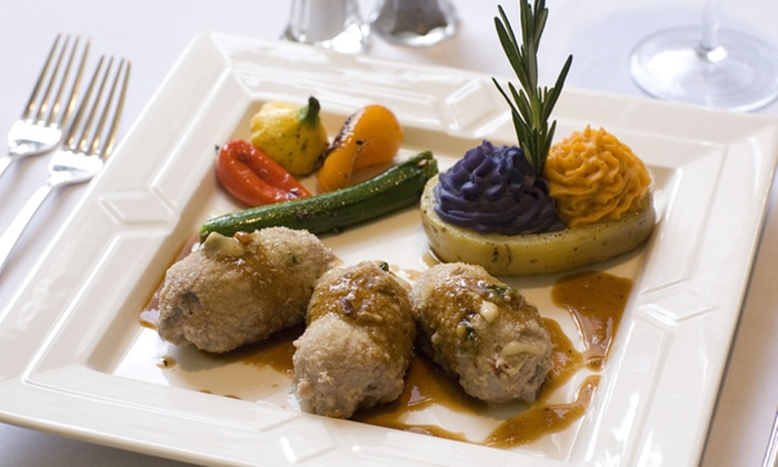 Vincenzo's Italian Restaurant - Central Business District: Upscale Italian Food for Dinner at Vincenzo's Italian Restaurant (44% Off). Two Options Available.