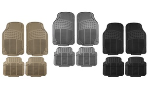 Heavy Duty Rubber Car Floor Mats Set (4-Piece)