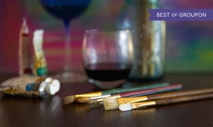 VisArts: Wine Glass Painting Class or Tile Class at VisArts (40% Off)
