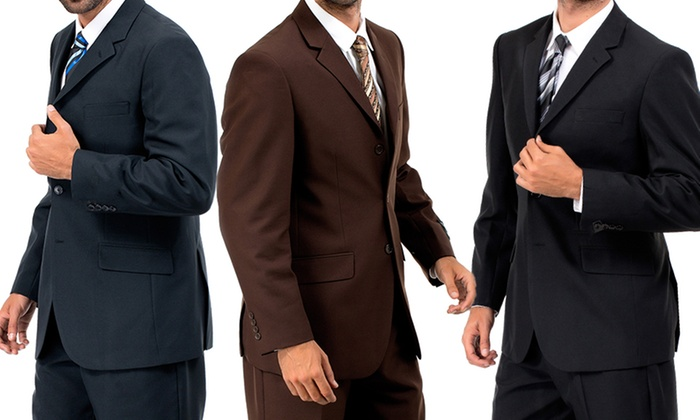 Vitto Three-Button Two-Piece Suit: Vitto Three-Button Two-Piece Suit