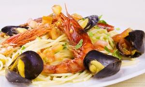 Verde Basilico: Menu di pesce con antipasto, primo, secondo e dolce più bottiglia di vino (sconto fino a 68%)