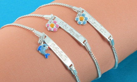 $24.99 for a Personalized Sterling-Silver Kids' Bracelet with Pendant from Monogram Online ($69 Value)