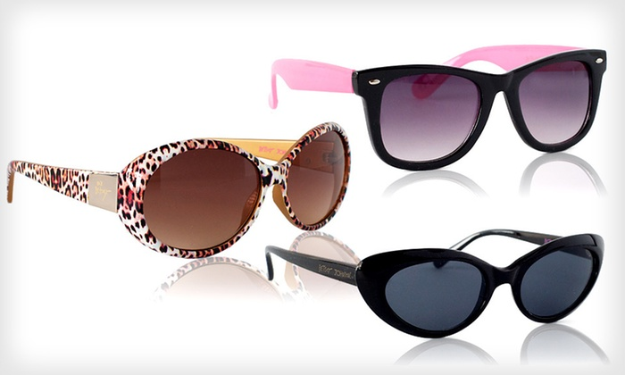 Betsey Johnson Women's Sunglasses: $15 for Betsey Johnson Women's Sunglasses ($50 List Price). Seven Styles Available. Free Shipping and Free Returns.