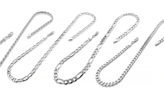 fashion chains chain men necklace popular s pin silver design jewelry solid sterling box