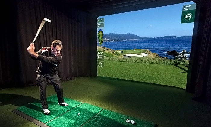 GolfCave - Clark: $35 for One-Hour of Golf on an Indoor Simulator at GolfCave ($60 Value)