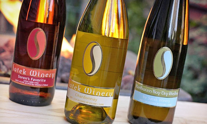 Satek Winery - Jamestown: $10 for Winery Tour and Tasting for Two with Keepsake Glasses and $10 Toward Bottle of Wine at Satek Winery ($20 Value)