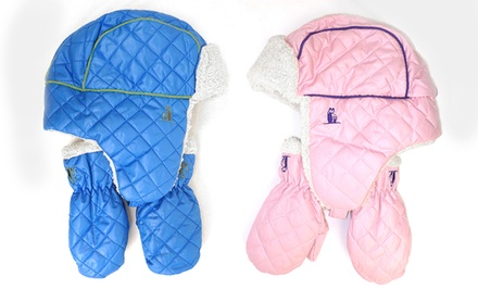 Rugged Bear Quilted Hats and Mittens for Infants and Toddlers. Multiple Colors Available.