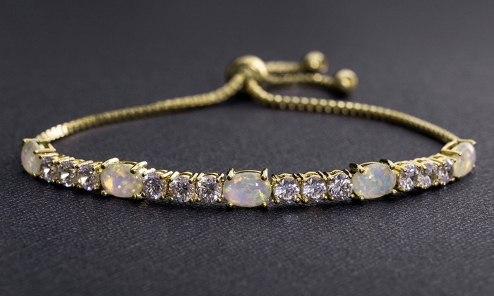 dec2d9d37 Nina & Grace 14K Gold Plated Bracelet made with Swarovski Elements