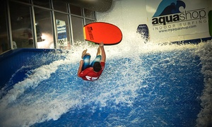 AquaShop: One, Two, or 15 30-Minute Flowrider Sessions or a Private 60-Min Lesson for up to 8 at AquaShop (Up to 54% Off)