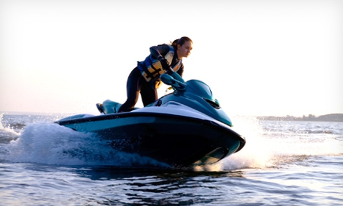 Lizard Water Sports - Ocean City: One-Hour Jet Ski Rental with Lunch and T-Shirt for One or Two from Lizard Water Sports (Up to Half Off)