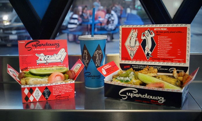 Superdawg Drive-In - Multiple Locations: $10 for $20 at Superdawg Drive-In
