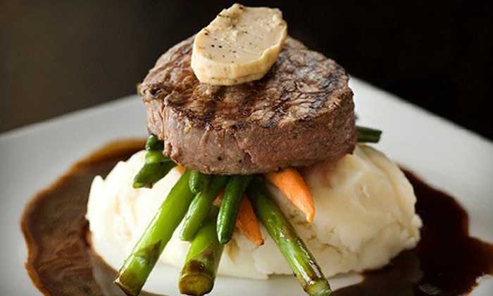 Mandalay Lounge & Steakhouse - Steveston: $15 for $30 Worth of Fusion Steakhouse Fare on the Water at Mandalay Lounge & Steakhouse in Richmond