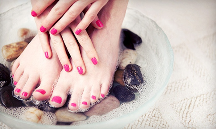 The Glam Spot - Kendale Lakes: Shellac Manicure with Option for Spa Pedicure at The Glam Spot (Up to 63% Off)