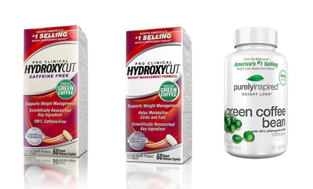 But 1 Get 1 Free: Hydroxycut Pro Clinical + Free Bottle of Purely Inspired Green Coffee Bean