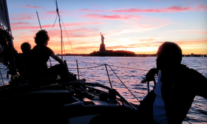 Sail the Hudson - Jersey City: Two-Hour Scenic Sunset Sail for One or Two from Sail the Hudson (Up to 55% Off)
