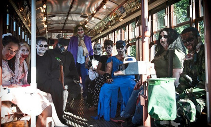The Haunted Isle at Shore Line Trolley Museum - East Shore: $10 for Visit for Two to The Haunted Isle at Shore Line Trolley Museum ($20 Value). Two Options Available.