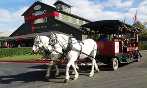 The Temecula Carriage Company: Horse-Drawn Trolley Winery Shuttle for One, Two, or Four from Temecula Carriage Company (Up to 58% Off)