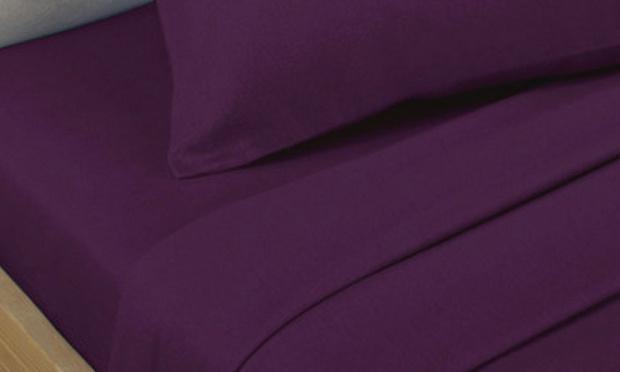 Egyptian cotton bed linen groupon goods - Bedlinnen aubergine ...