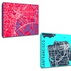 """Minimalist City Map 20""""x20"""" Prints on Gallery-Wrapped Canvas"""