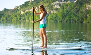 Surfari Surf: Four-Hour Standup-Paddleboard Rental or a Three-Hour Group Lesson for One or Two (Up to 52% Off)