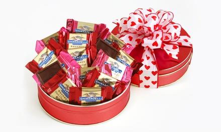 California Delicious Ghirardelli Chocolate Lover's Valentine's Gift Tin