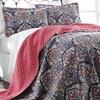 100% Cotton Reversible Quilt Set (3-Pieces)