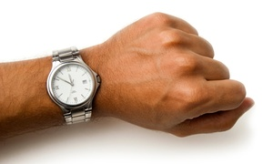 Diamond & Jewelry Gallery: Watch Repair with Battery Replacement at Diamond & Jewelry Gallery (50% Off). Three Options Available.