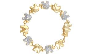 Gold Plated Diamond Accent Elephant Bracelet By Brilliant Diamond at Gold Plated Diamond Accent Elephant Bracelet By Brilliant Diamond, plus 9.0% Cash Back from Ebates.