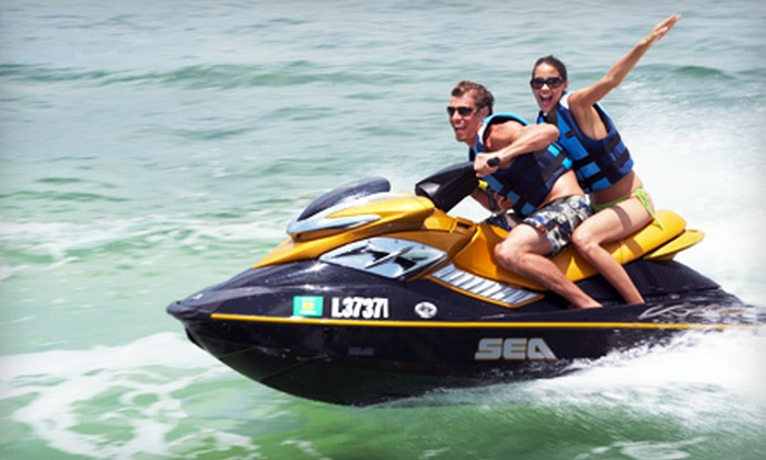 Doctor Jet Ski & Boat Rental - Bella Vista: One-Hour Yamaha WaveRunner Rental or Two-Hour Pontoon Boat Rental from Doctor Jet Ski & Boat Rental (Up to 52% Off)