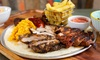 BBQ Plate with Wine or Beer