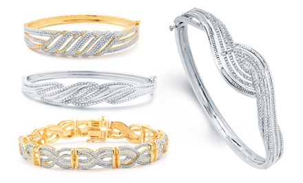 1/4CTTW Diamond Bangles. Multiple Styles Available. Free Returns.