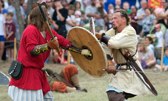 San Antonio Highland Games Association - Helotes: 2 or 4 Tickets to SA Highland Games & Celtic Music Festival with Drinks  (Up to 52% Off). 3 Options Available.